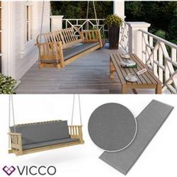 VICCO Bankauflage 140x40x5cm Bankpolster Gartenbank-Auflage Sitzpolster Auflage