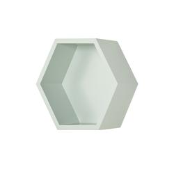 Wandregal  Hexagon ¦ grün ¦ Maße (cm): B: 27 H: 27 T: 12