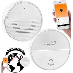 Funk-Türklingel mit WLAN und Gegensprech-Funktion per App, 50 m