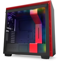 NZXT H710i Window Red, Tower-Gehäuse schwarz/rot, Tempered Glass