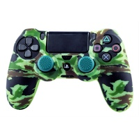 Blade PS4 Silicone Skin + Grips Camo Woodland