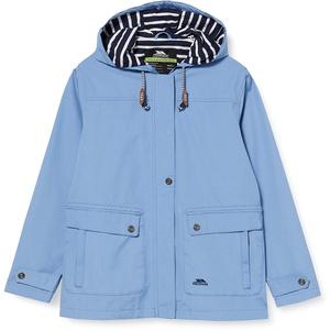 Trespass Damen wasserdichte Regenjacke mit versteckter Kapuze XL Denim-blau