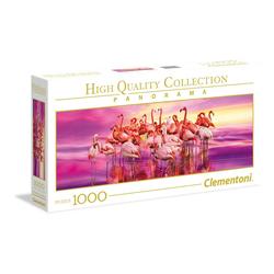 Clementoni® Puzzle Flamingo Dance 1000 Teile Panorama Puzzle, Puzzleteile bunt