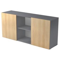 KAPA 1780 | Sideboard | mit Schwebetüren - Sideboard Graphit/Eiche