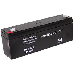 Blei-Akku Multipower MP4-12D, 12 Volt, 4 Ah