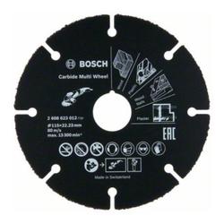 Bosch Trennscheibe Hartmetall Multi Wheel, 115 mm, 22,23 mm, 1 mm