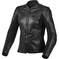 Macna Tequilla Damen Motorrad Lederjacke, schwarz, Größe 42