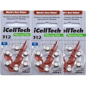 36x Icelltech Typ 312 Ds Pr41 Hörgerätebatterien Hörgeräte-batterien
