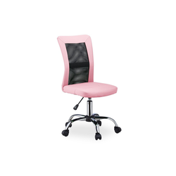 relaxdays Drehstuhl Bürostuhl Drehstuhl rosa
