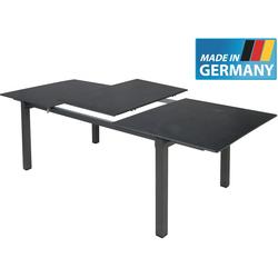 MFG ALU STAR Alu-Ausziehtisch Gartentisch 160/220x90cm