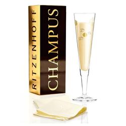 Ritzenhoff Champagnerglas Champus Design Ramona Rosenkranz, Kristallglas weiß
