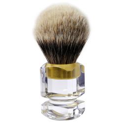 Thäter Rasierpinsel Silberspitze 3 Band 4376-6 Plexi Gold