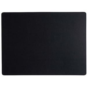 adorist. Leder Tischset, Lederunterlage KANON rechteckig, schwarz (weiße Naht) 46,5x34x0,2cm