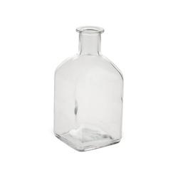 matches21 HOME & HOBBY Blumentopf Vase Flasche Eckig Glas Flasche Glasvase Blumenvase 6,5 cm (1 Stück) 6.5 cm x 13 cm
