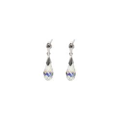 Smart Jewel Paar Ohrstecker Kristallstein Tropfen, Silber 925