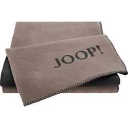 Wohndecke JOOP! UNI-DOUBLEFACE, Joop!, mit JOOP! Logo grau