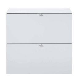 Garderobenschuhschrank in Weiß zwei Klappen