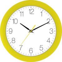 EUROTIME 88800-03-1 Quarz Wanduhr 30cm x 4.5cm Cadmium-Gelb Schleichendes Uhrwerk (lautlos)