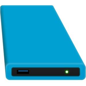 HipDisk BL 120GB SSD Externe Festplatte (6,4 cm (2,5 Zoll), USB 3.0) tragbare portable mit austauschbarer Silikon-Schutzhülle stoßfest wasserabweisend blau