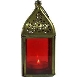 Guru-Shop Laterne Glaslaterne, Windlicht, Teelichthalter aus.. rot