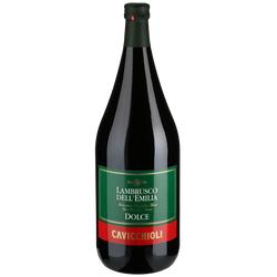 Lambrusco del Emiglia Amabile Magnum 1,5 L-Magnum Flasche - Cavicchioli - Italienischer Rotwein