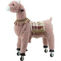 Sweety Toys 11391 Reittier groß Alpaka rosa auf Rollen für 4 bis 9 Jahre-Riding Animal