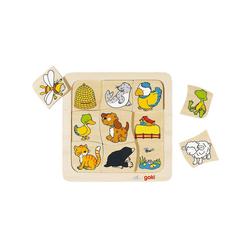 goki Puzzle Holzspiel: Wer lebt wo?, Puzzleteile