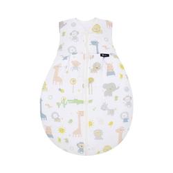 Alvi® Babyschlafsack Sommer- Schlafsack Molton, Zootiere bunt, 80 cm 70