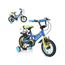Byox Kinderfahrrad Kinderfahrrad 12 Zoll Prince, 1 Gang 1 Gang, keine, sportliches Design, Stützräder, Kettenschutz blau