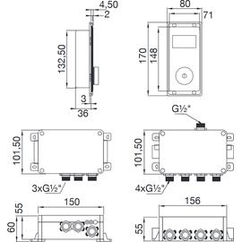 Steinberg Serie 390 iFlow Vollelektronische Armatur mit Digitalanzeige (390.4645)