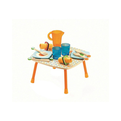 DJECO Spielgeschirr Rollenspiel Kinderküche - Gaby's gedeckter