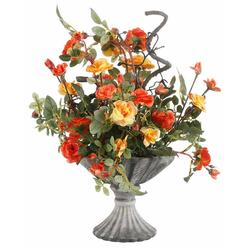 Kunstpflanze Wildrosen Wildröschen, I.GE.A., Höhe 41 cm orange