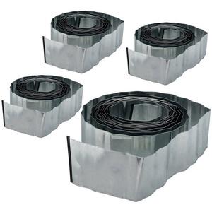 relaxdays Rasenkante 4 x Rasenkante 10m Metall