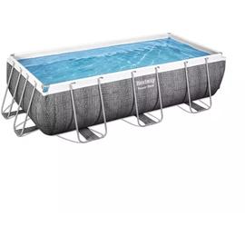 BESTWAY Power Steel Frame Pool Set 404 x 201 x 100 cm inkl. Filterpumpe