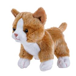Teddys Rothenburg Kuscheltier Katze klein 14 cm goldbraun-weiß (Stoffkatze Plüschkatze Stofftiere Katzen Plüschtiere, Babykatze Katzenbaby Spielzeug Kinder Baby)