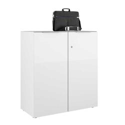 Officeschrank in Weiß glasbeschichtet