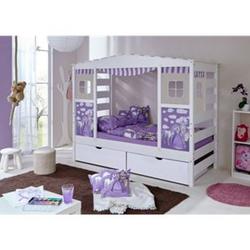 TiCAA Hausbett mit Bettkasten