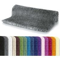Spirella Badteppich Badematte Duschvorleger Mikrofaser Hochflor | flauschig | rutschhemmend | geeignet für Fußbodenheizung | 70x120 cm | Grau