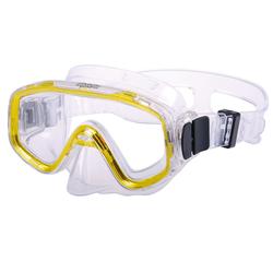 AQUAZON Taucherbrille AQUAZON FUN Junior Kids Schnorchelbrille, Taucherbrille, Schwimmbrille, Tauchmaske für Kinder, von 3-7 Jahren, sehr robust, tolle Paßform gelb