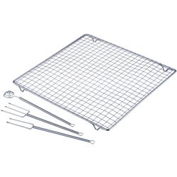 WESTMARK Pralinen-Set, 4tlg., Bestehend aus 2 Pralinentauchgabeln, 1 Pralinentauchspirale, 1 Abtropfgitter und, Größe: 30,0 x 30,0 x 1,9 cm