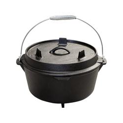 S&E Schmortopf Premium Dutch Oven mit Füßen, Gusseisen 7.3 l