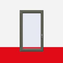 Kunststofffenster Basaltgrau (Innen und Außen) Dreh Kipp Fenster 1 flg.