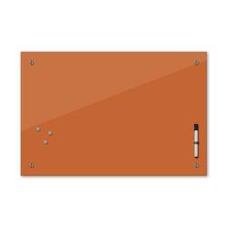 Bilderdepot24 Glasbild, Memoboard - haselnussbraun - 24 Farben 60 cm x 40 cm