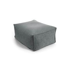 mokebo Pouf Der Ruhepouf, Indoor Sitzkissen, Sitzhocker & Sitzpouf, in rund o. eckig & vielen Farben grau 65 cm x 35 cm x 50 cm