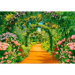 Fototapete Flower Alley, glatt 3,50 m x 2,60 m