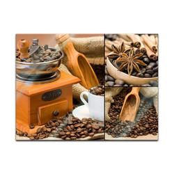 Bilderdepot24 Glasbild, Glasbild - Kaffee Collage I 60 cm x 40 cm