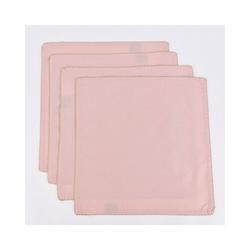 SCHÖNER LEBEN. Platzset Stoffservietten aus 100% Baumwolle 4 Stück rosa gold 40x40cm, Stoffservietten aus 100% Baumwolle 4 Stück rosa gold 40x40cm
