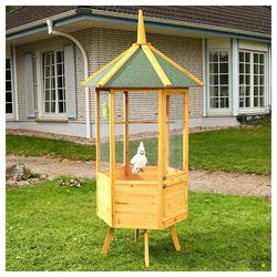 Mucola Vogelhaus Vogel Käfig Tierkäfig Zimmervoliere, herausziehbare Bodenschubladen