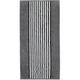 CAWÖ Black & White Handtuch 50 x 100 cm anthrazit
