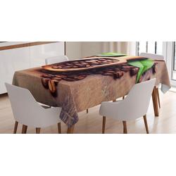 Abakuhaus Tischdecke Personalisiert Farbfest Waschbar Für den Außen Bereich geeignet Klare Farben, Kaffee Kaffeepflanze auf Tabelle 140 cm x 240 cm
